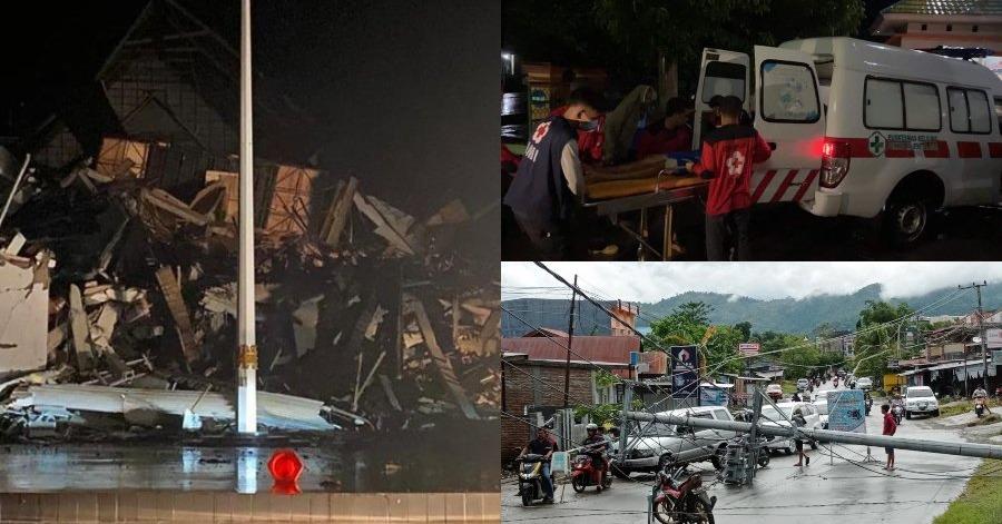 (Video) Bangunan Pejabat Gabenor Roboh, 3 Maut & 24 Cedera